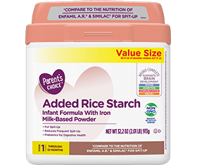 Parent's Choice Added Rice Starch Non-GMO Infant Formula